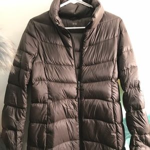 Brown Lightweight Puffer Jacket & Pullover Uniqlo